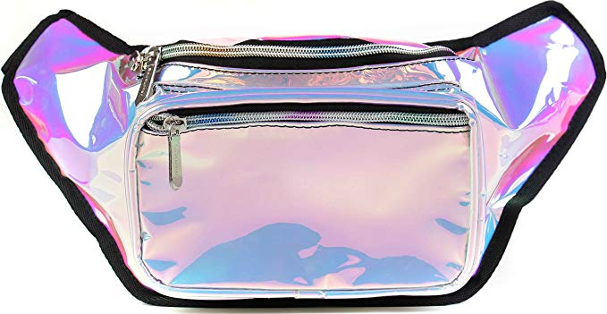 Holographic Rave Fanny Pack, $14