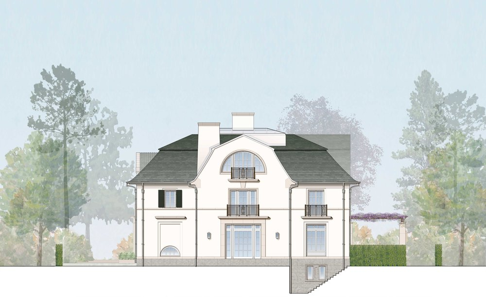Rendered North Elevation - Courtesy of RAMSA
