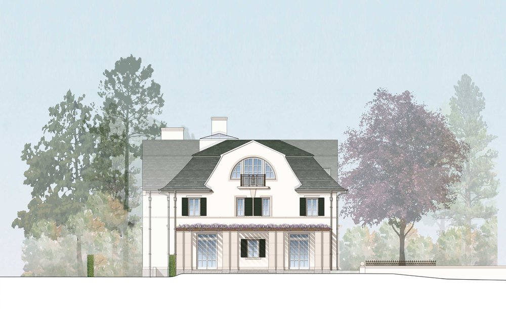 Rendered West Elevation - Courtesy of RAMSA