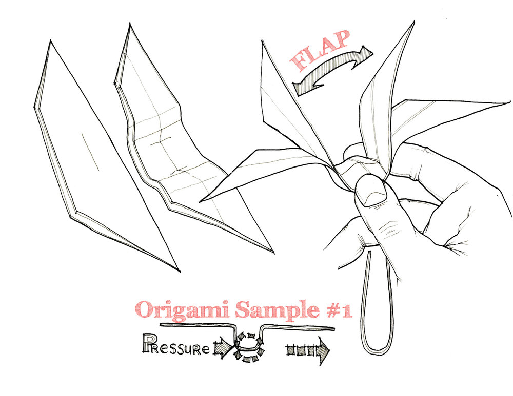 Origami Study: Testing Sample No. 01