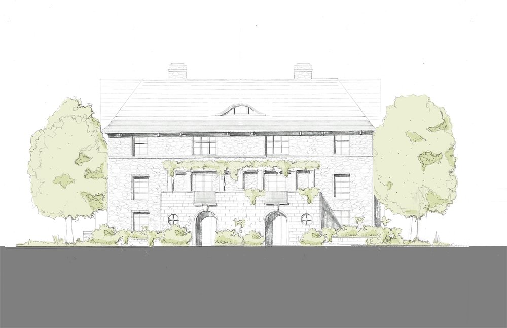 420 semi_Front Elevation with trees.jpg