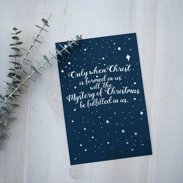 "How do you remind yourself to focus on getting closer to Jesus this Advent? There's still time left in Advent to order these rainbow foil letterpress art prints. ""Only when Christ if formed in us will the mystery of Christmas be fulfilled in us."" CCC #526⠀ You can find them in our store: https://lumibox.cratejoy.com/shop/product/1160324237"