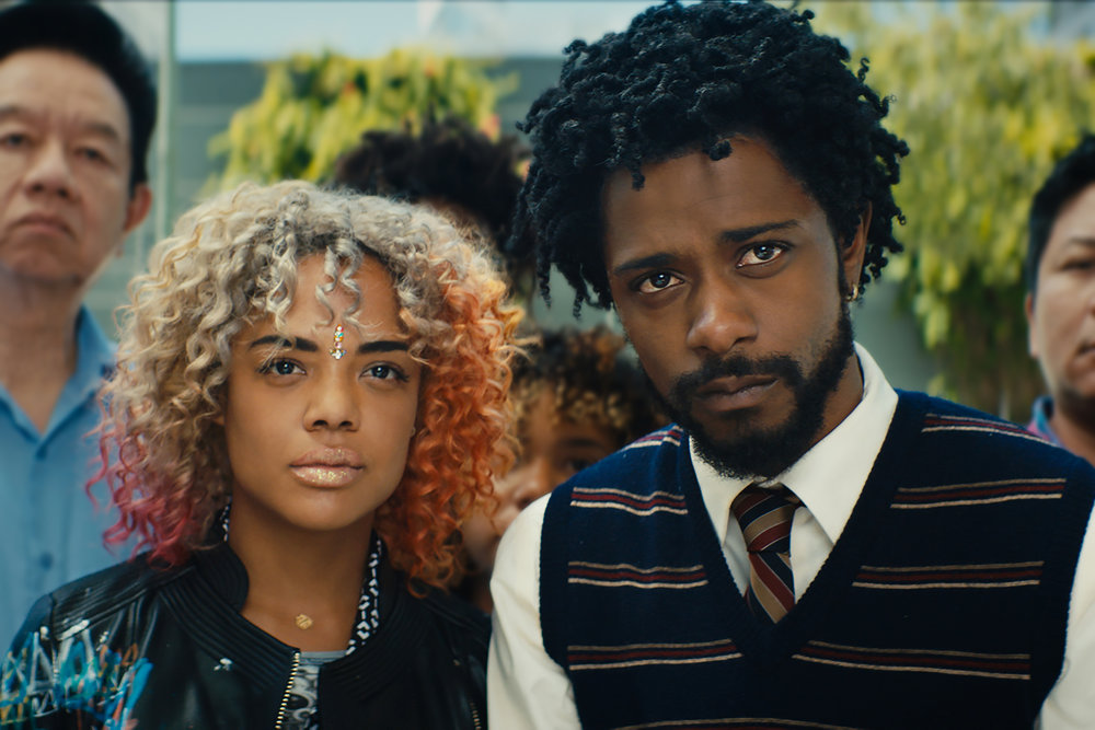 Tessa Thompson and Lakeith Stanfield. Image courtesy of Annapurna Pictures