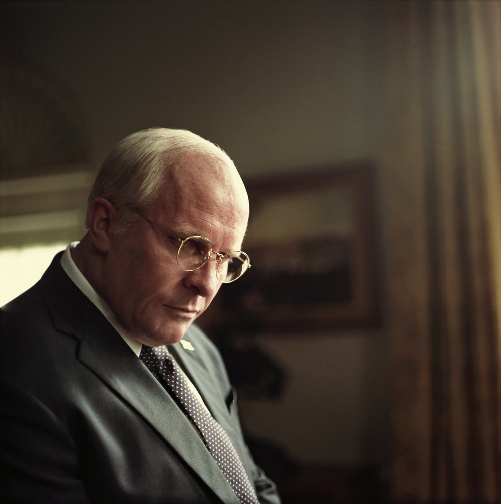 Christian Bale as Dick Cheney. Credit: Greig Fraser / Annapurna Pictures 2018 © Annapurna Pictures, LLC. All Rights Reserved