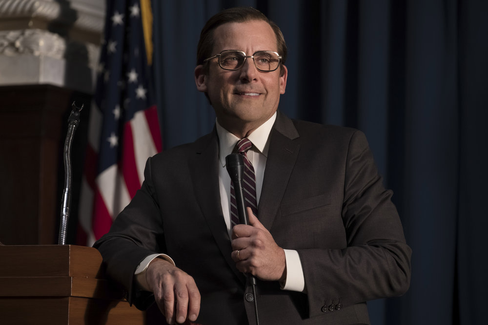 Steve Carell as Donald Rumsfeld. Credit : Matt Kennedy / Annapurna Pictures 2018 © Annapurna Pictures, LLC. All Rights Reserved.