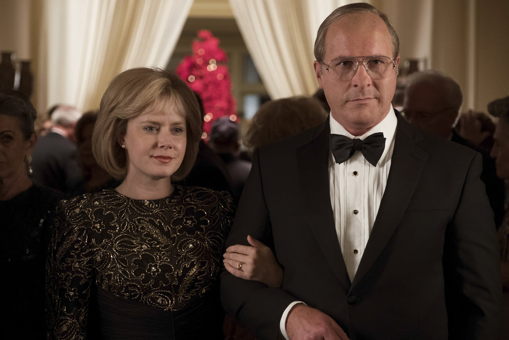 Amy Adams and Christian Bale as Lynne and Dick Cheney. Credit: Matt Kennedy / Annapurna Pictures 2018 © Annapurna Pictures, LLC. All Rights Reserved.