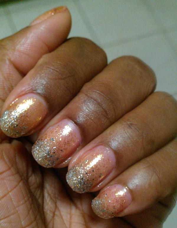 silver and gold nail challenge 3