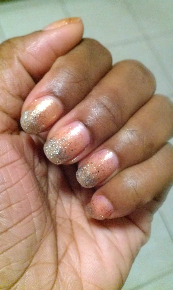 silver and gold nail challenge 5