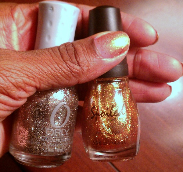 silver and gold nail challenge