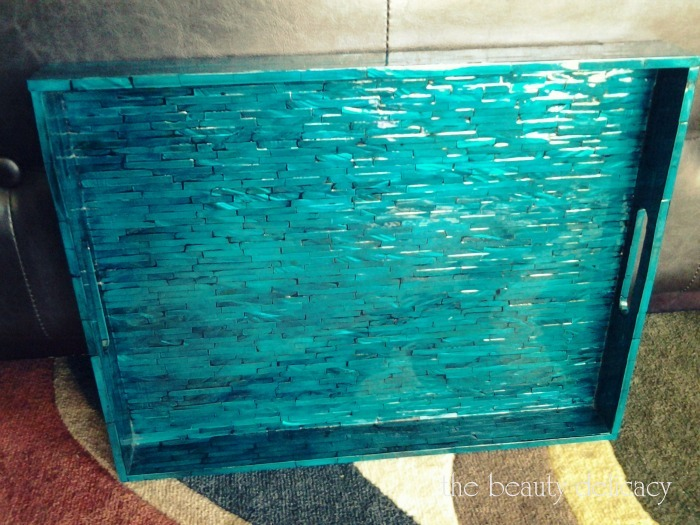pier 1 turquoise tray