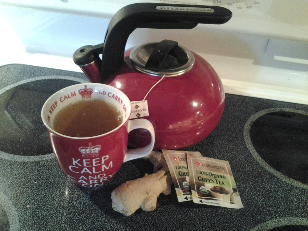 green ginger tea