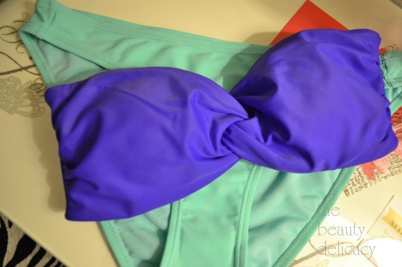 bright purple mint bikini