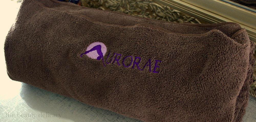 aurorae yoga mat towel feat