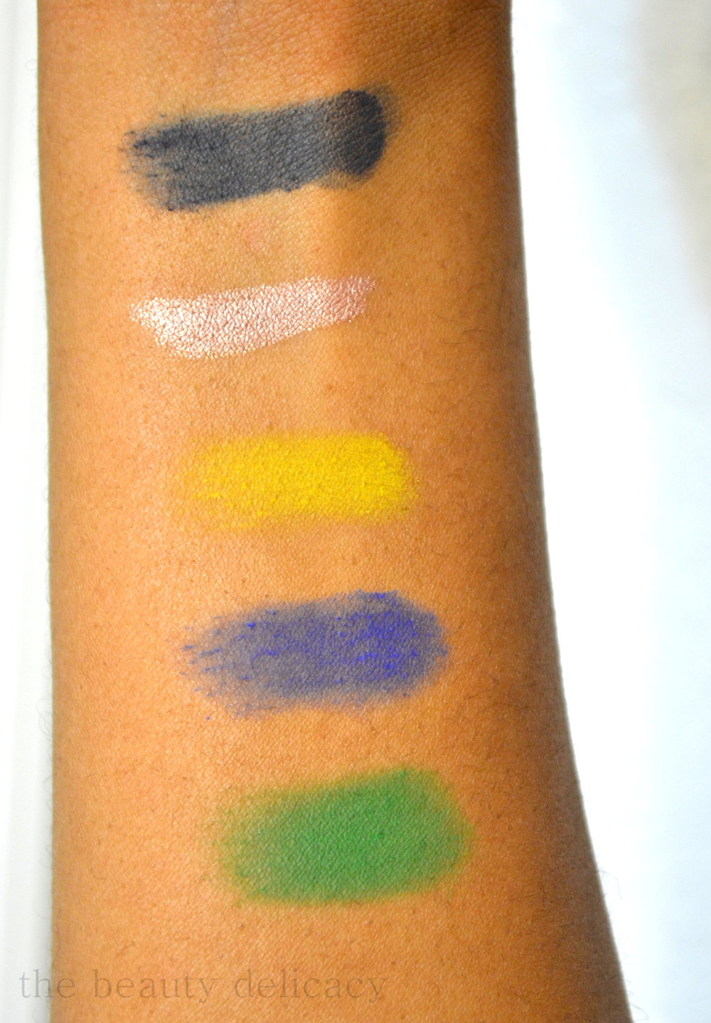 cf top 3 powder shadow swatches