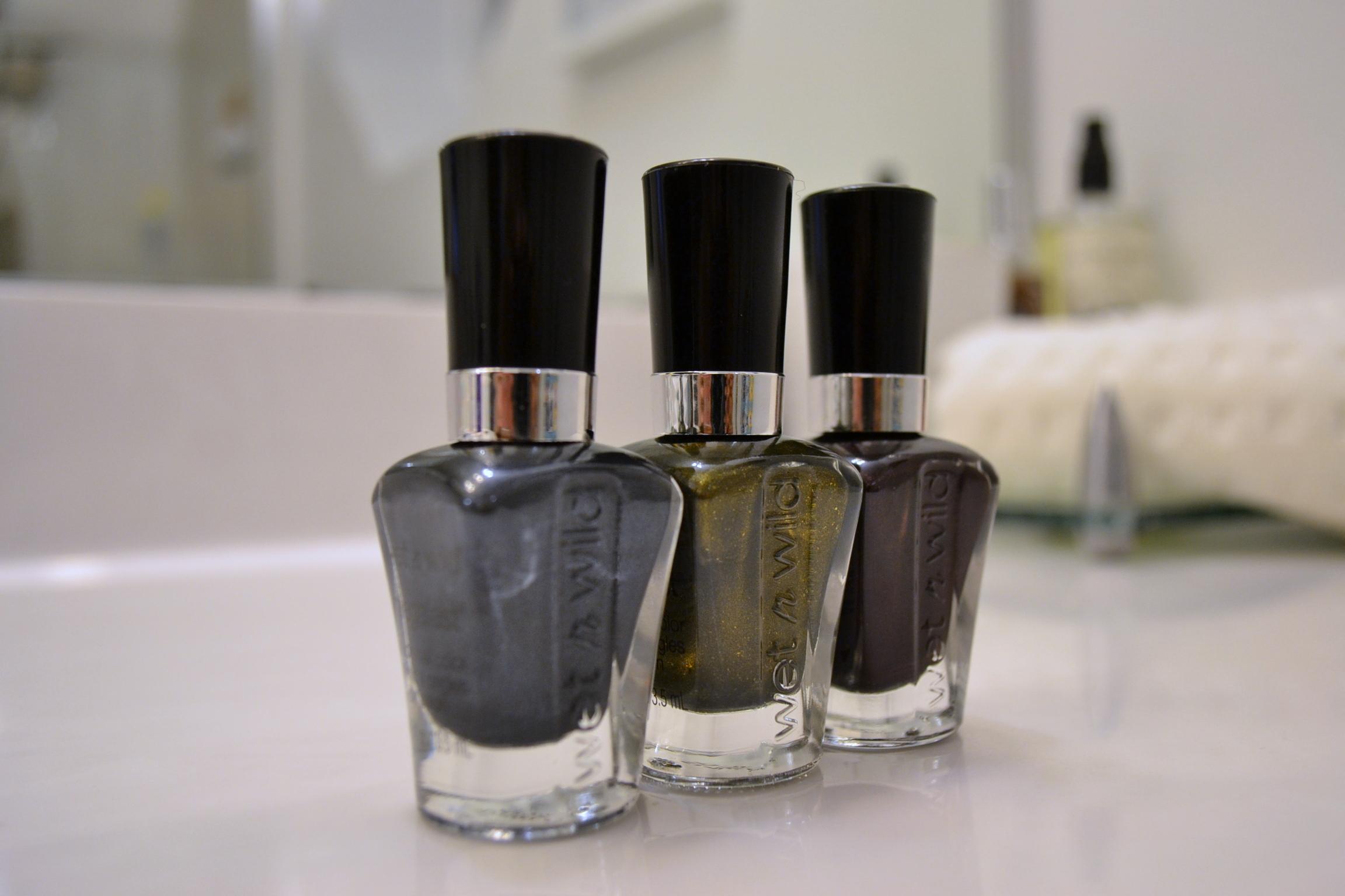 fall metal nail polish