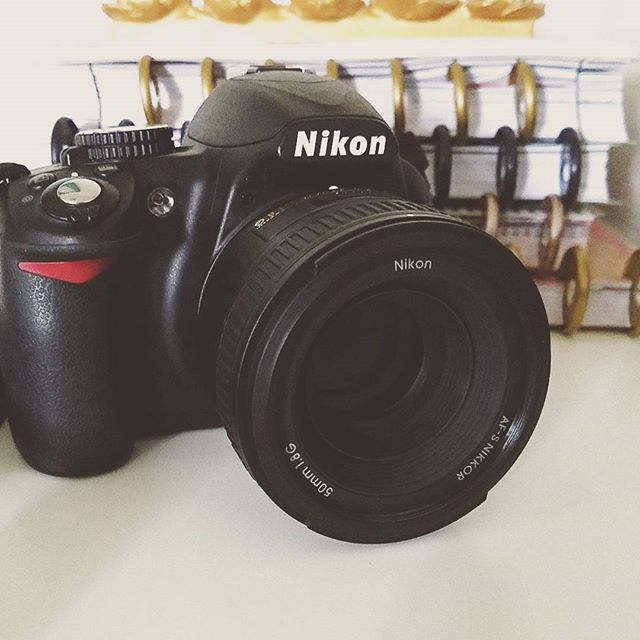 We did a little shopping after breakfast this morning and brought home this little lens gem 📷 #bblogger #lens #nikon