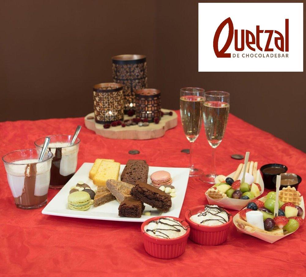 Quetzal - Bij Quetzal de Chocoladebar krijgt u gratis een brownie of chocolade-boterkoek bij besteding met het mantelzorgcompliment.
