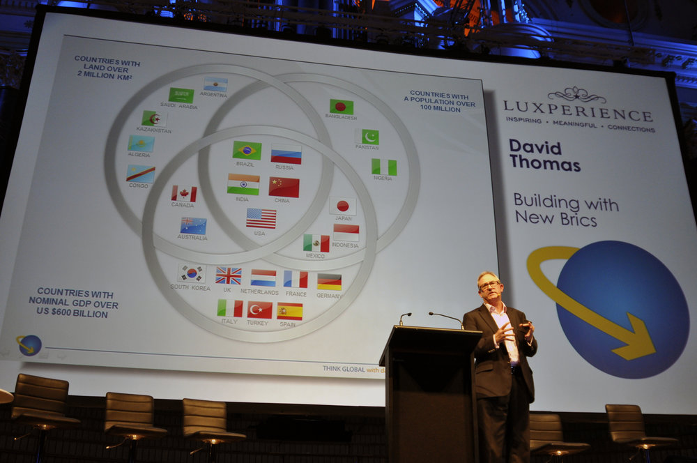 David Thomas Speaks at the Luxperience conference as the china expert