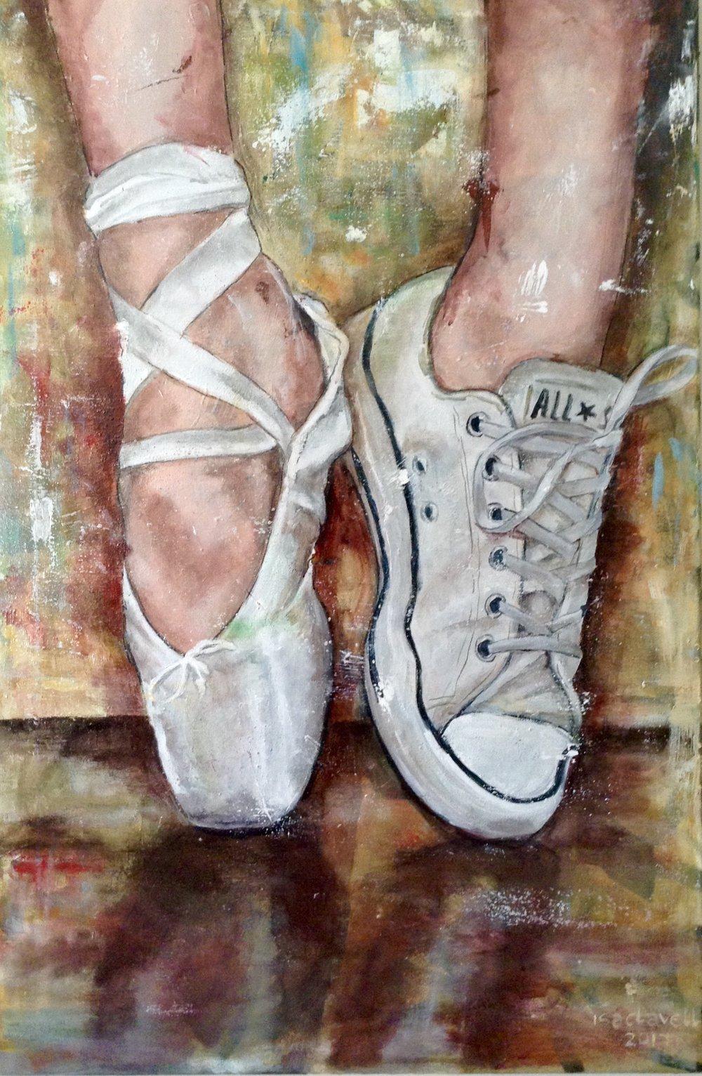 ISABEL CLAVELL   Inició su carrera como diseñadora de moda a finales de los años 80. Entre texturas, tejidos, colores, patrones y maniquíes desarrolló su vena creativa. En 2015 sintió la enorme necesidad de plasmar su forma de ver y entender el mundo a través del lienzo, de forma completamente autodidacta. Clavell observa y plasma en sus obra la realidad cotidiana desde su particular punto de vista.