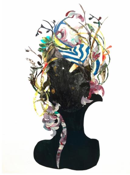 LLANOR ALLEYNE   Nacida en Barbados y criada en Nueva York, esta artista explora la esencia femenina a través de la pintura y la fotografía. Es un trabajo que rompe con las convenciones del collage moderno con el uso de pinturas originales abstractas y una gran variedad de materiales que incluyen el papel y el mylar. El resultado es una obra colorida íntimamente relacionada con el mundo de la mujer y su proyección en la naturaleza.