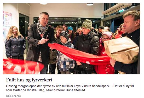 Vinstra Handelspark åpnet -