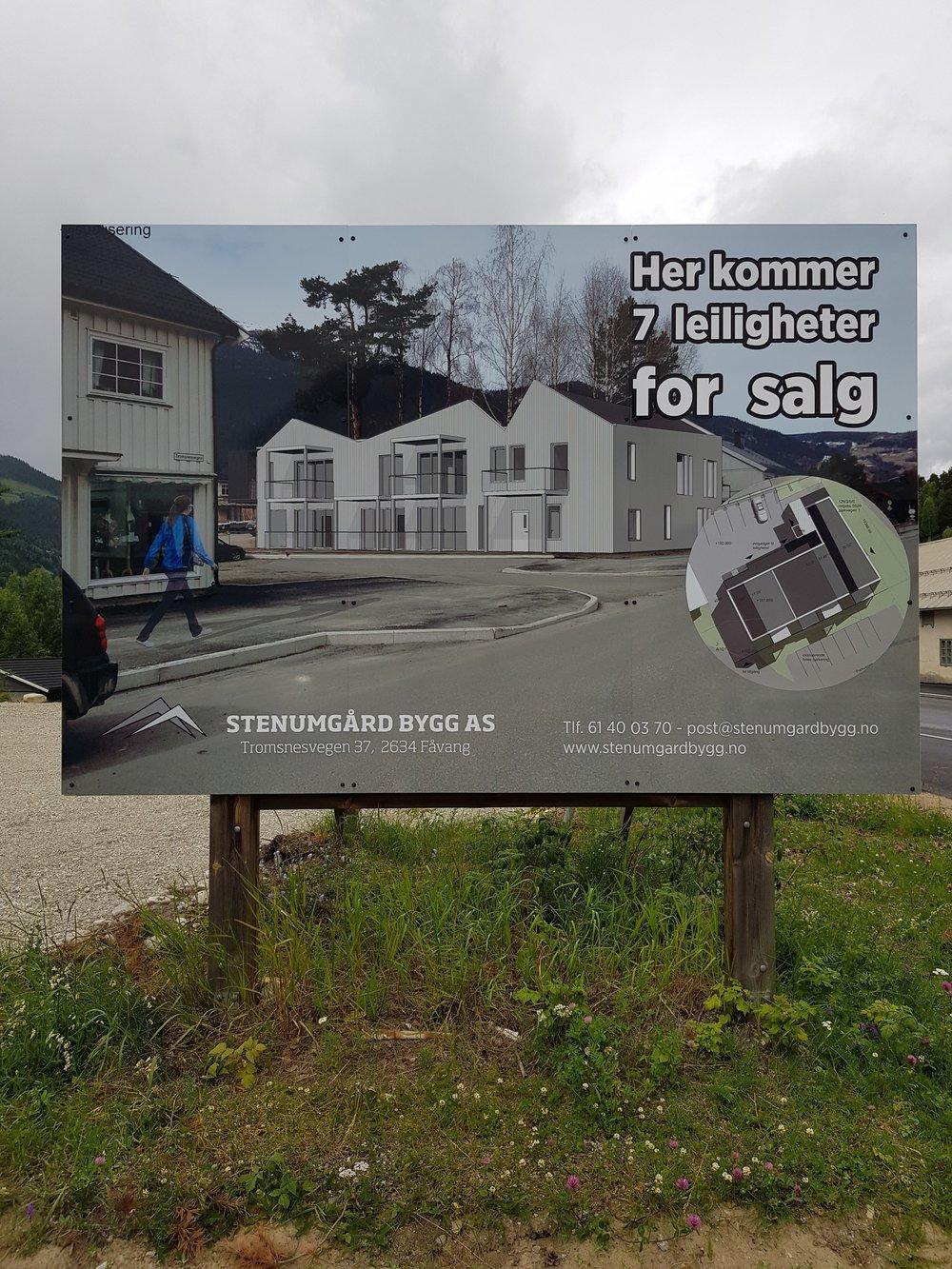Stenumgård Bygg AS har overtatt tomten nord på Fåvang
