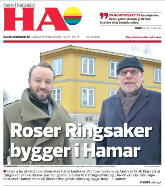 Vil bygge i høyden i Hamar -