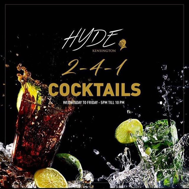 Here is a little #wednesday #treat from us @hydekensington! Come and sample our #cocktails with our 2 for 1 offer🥂🍹🍸For dinner and table reservations call us 0207 368 6677 or email info@hydekensington.co.uk  #greatnights #tables #nightlife #dining #panasian #privatedining#cocktails#sushi#placetobe#vip#luxuryclub#kensington#mayfair#chelsea#birthdayparty#corporateevents#nightout#models#champagne#placetobe#glamorous #nightlife #celebspot#hydekensington#brunettes#blondes#networking#jjadams