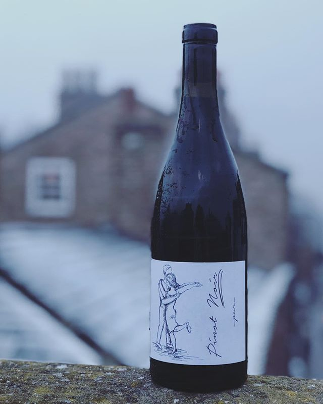 This new wine has just landed at our shop & bar in a very snowy Chester. Welcome to the shelf this natural Pinot Noir from brothers Daniel and Jonas Brand of @weingutbrand - an excellent little find by the good people at @winesutb  From the Pfalz region of Germany this Pinot is amongst some of the lightest I've ever tasted, yet it packs so much flavour in the glass. It's mineral and slightly floral on the nose but with that classic gamey meatiness I always seem to get on the palate with German reds. Another example of natural wine making at its very best. Danke 👏🏽