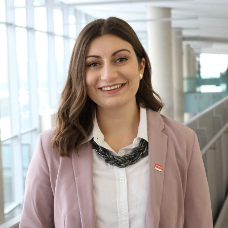 Mikayla Zolis   Toronto, Canada   MaRS Solutions Lab Coordinator, MaRS Discovery District   Mikayla is a recent Bachelor of Business graduate from Brock University and works at MaRS Solutions Lab, a social innovation lab in Toronto tackling complex societal challenges relating to inclusivity in cities. She is passionate about innovation and engagement in municipal government and equally as passionate about the role businesses play in solving large-scale social and environmental issues.