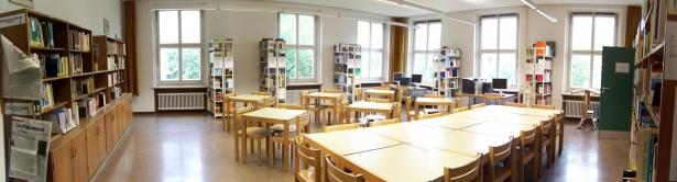 Blick in den 2013 neu Gestalteten Lesesaal - das Heimeranzimmer