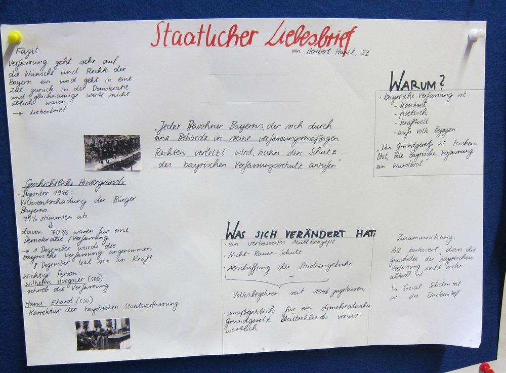 """Poster zu Heribert Prantls """"Liebesbrief an die Bayerische Verfassung"""""""