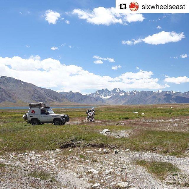 📷 @sixwheelseast at Zorkul Nature Reserve.  Www.visitpamirs.com #zorkul #mountainlake #mountain #lake #visitpamirs #pamir #tajikistan #centralasia #pecta #roofoftheworld #tajikistan #pamirs #afghanistan #adventurebike #exploreoutdoors #instatravel #nature #middleofnowhere #natgeotravel #traveling #pecta.tj
