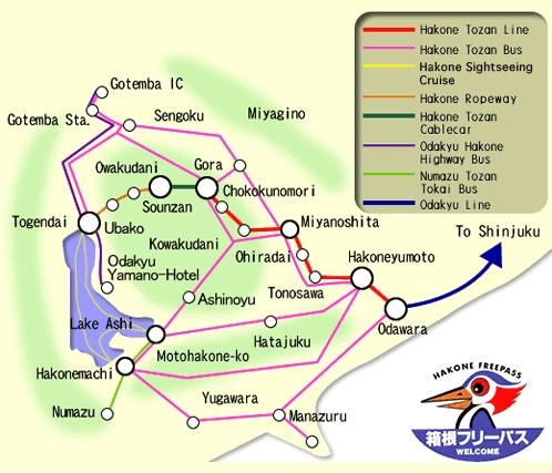 Hakone Free Pass Mapa