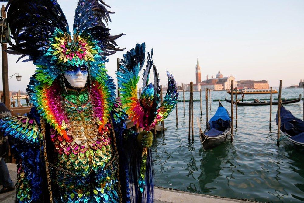 Uno de los finalistas del concurso de máscaras Carnaval de Venecia 2017