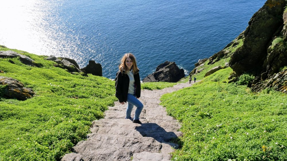 Subiendo por las 600 escaleras de las Skellig Islands