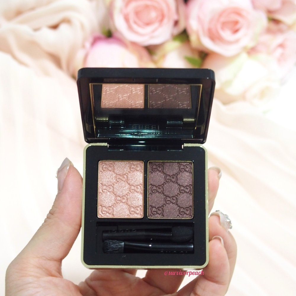 Gucci Amaretto Magnetic Color Shadow Duo (in artificial light)