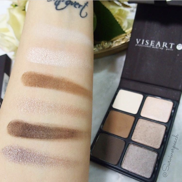 Swatches of the Viseart Theory I Cashmere palette - indoors