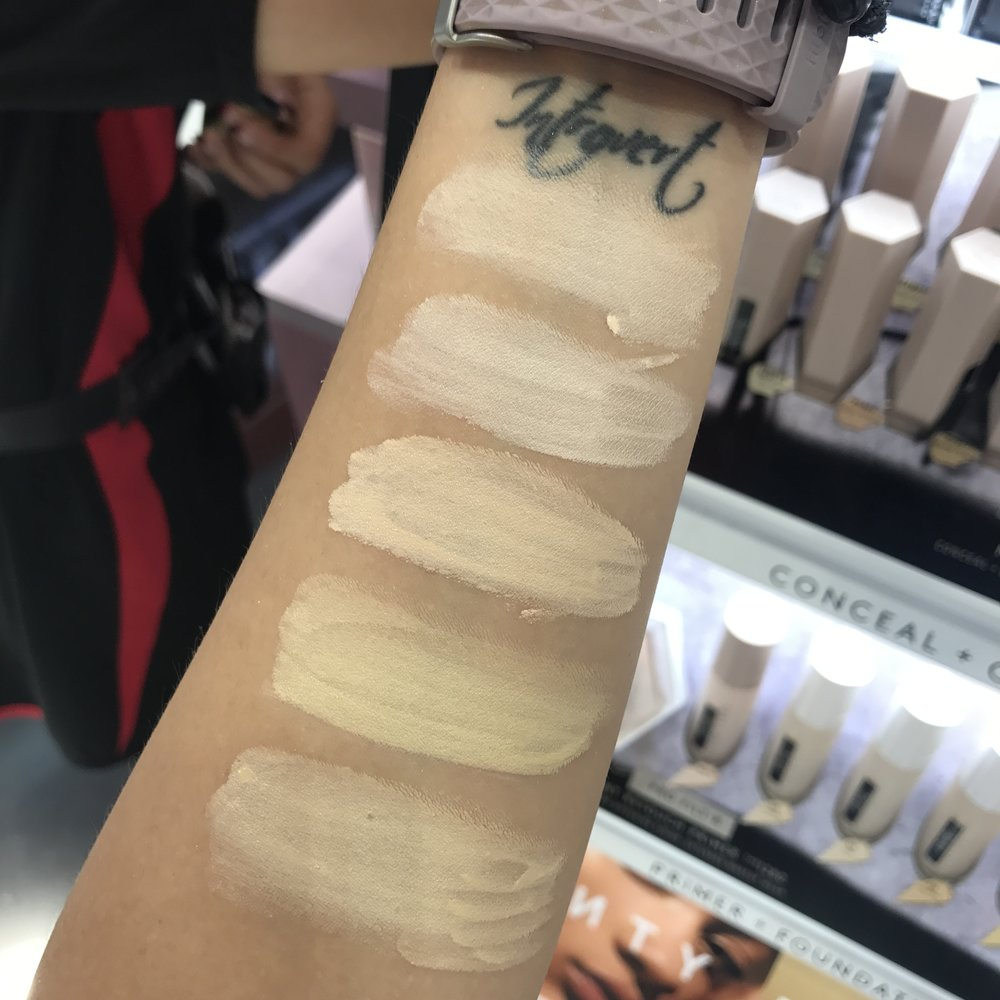 Fenty beauty foundation swatches