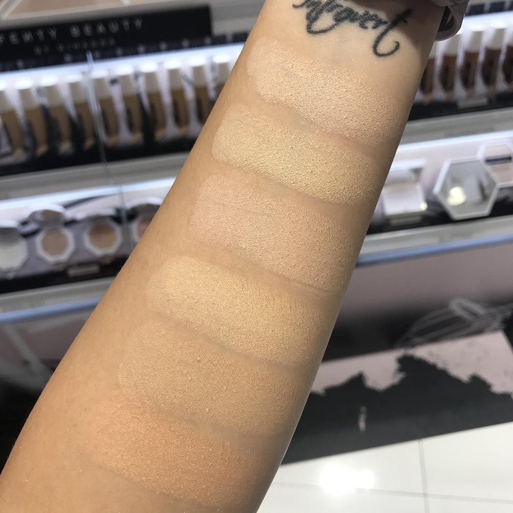 Fenty Beauty Matchstix matte skinstick swatches