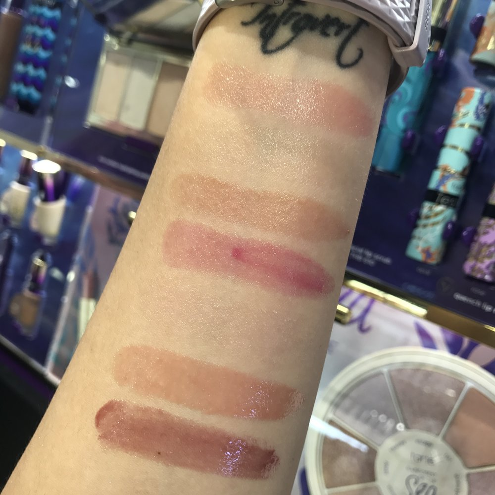 Swatches of the Tarte Quench Lip Rescue