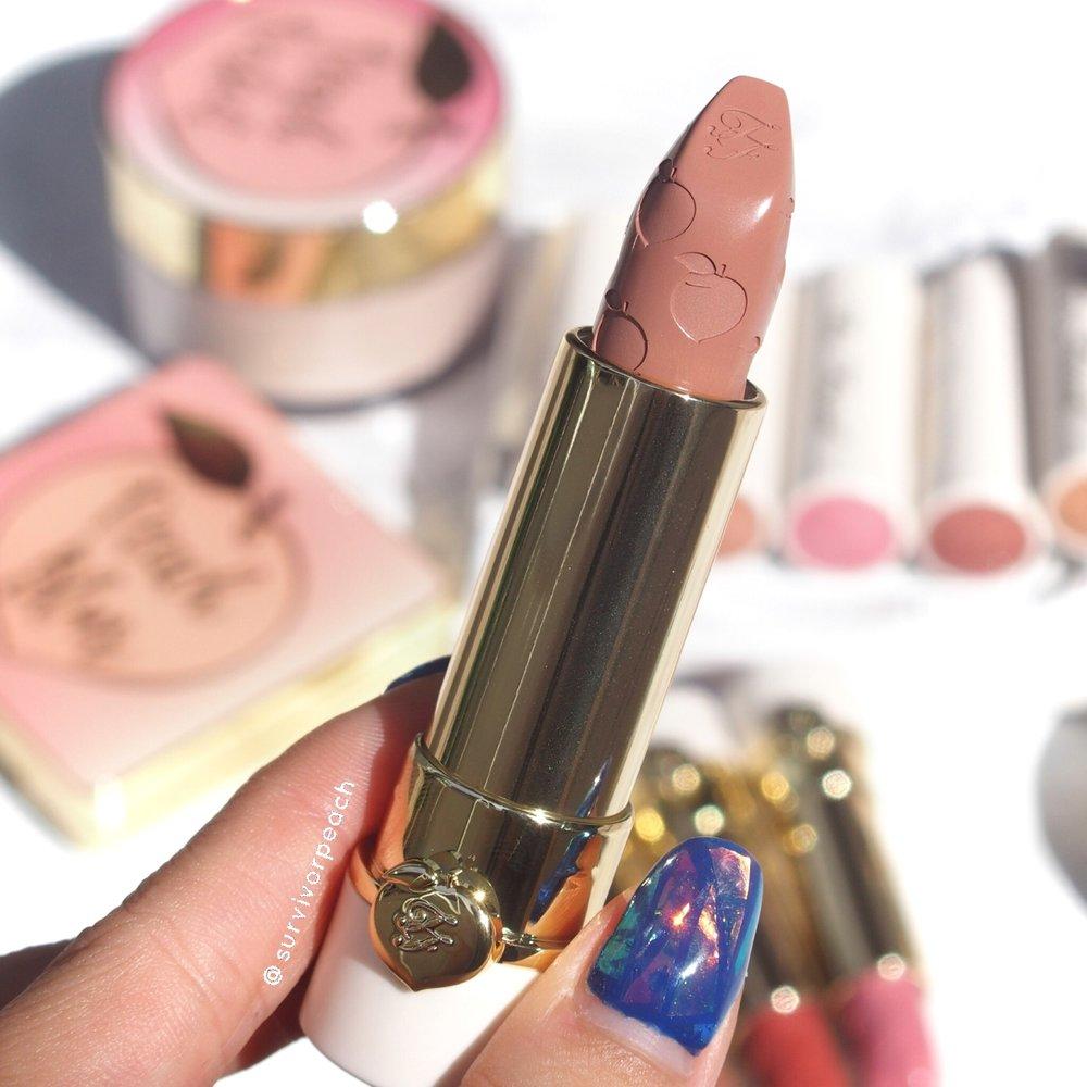 Toofaced Sweet Peach Lipstick Sunday Funday