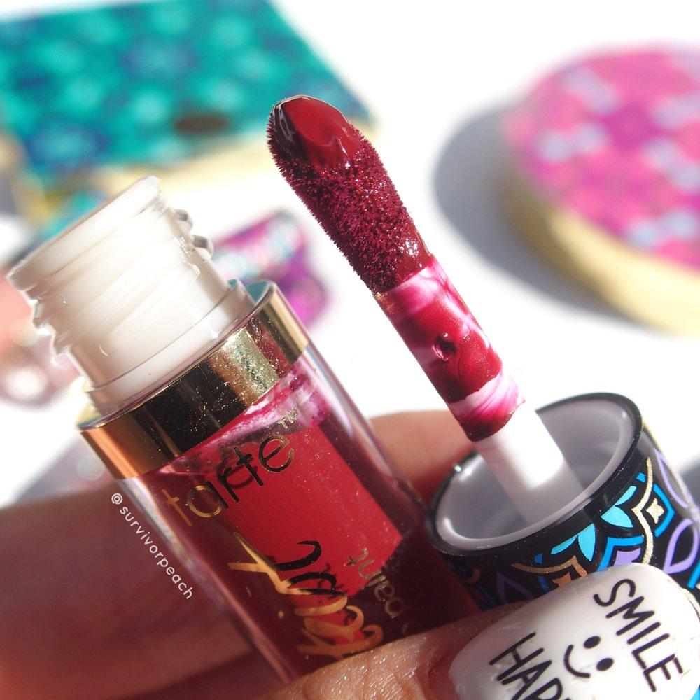 Quick dry matte lip paint in Spice (plum wine)