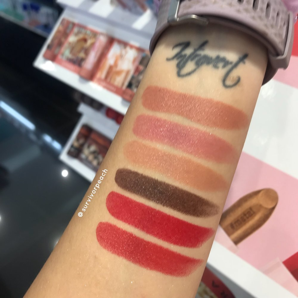 Sephora Lipstories Swatches Survivorpeach