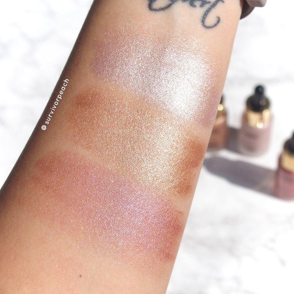 Eloise Beauty Get Glowed Illuminating Drops in shade Snowflake, Champagne, Unicorn