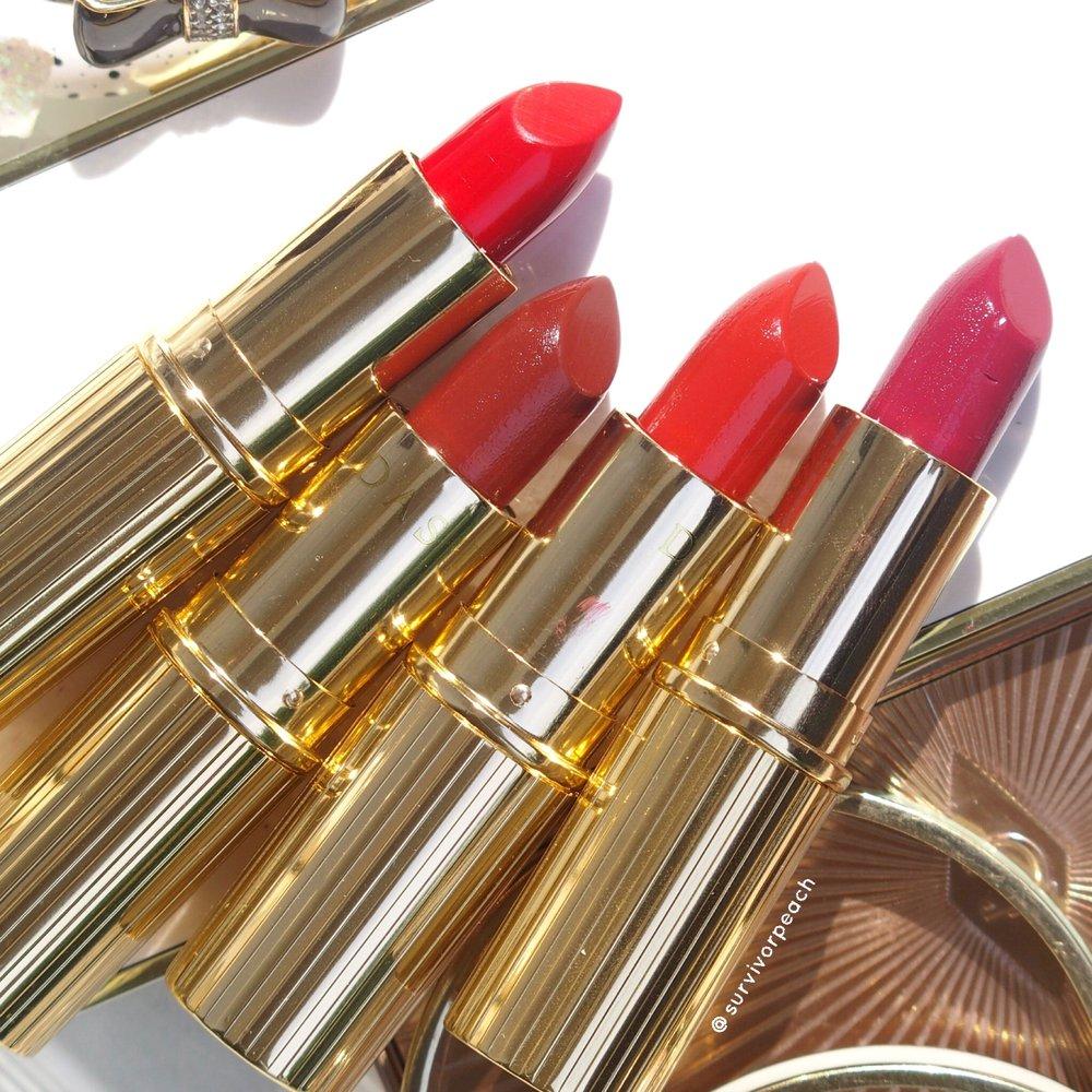 Dash Cosmetics Vintage Moisture Lipstick - Queen B, Ginger Brick, Dark Secret, Victoria Red
