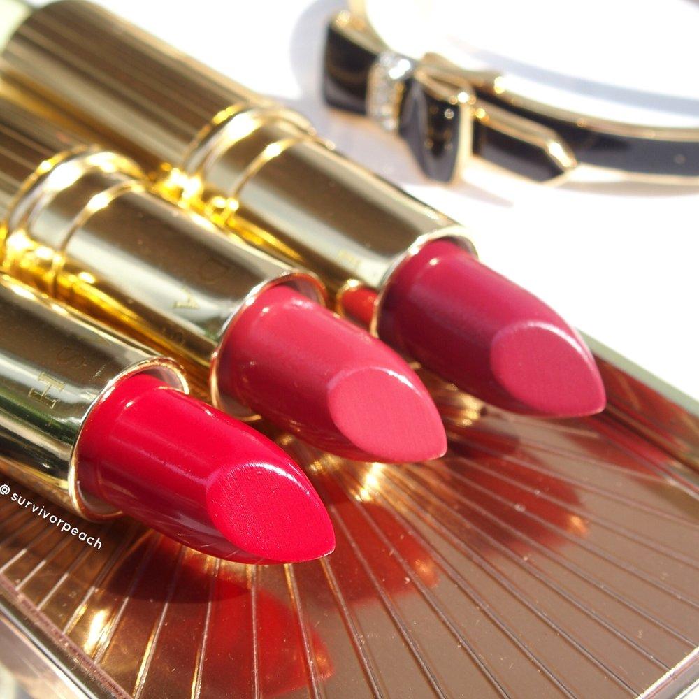Dash Cosmetics Vintage Moisture Lipstick - Queen B, Blush Rose, Victoria Red