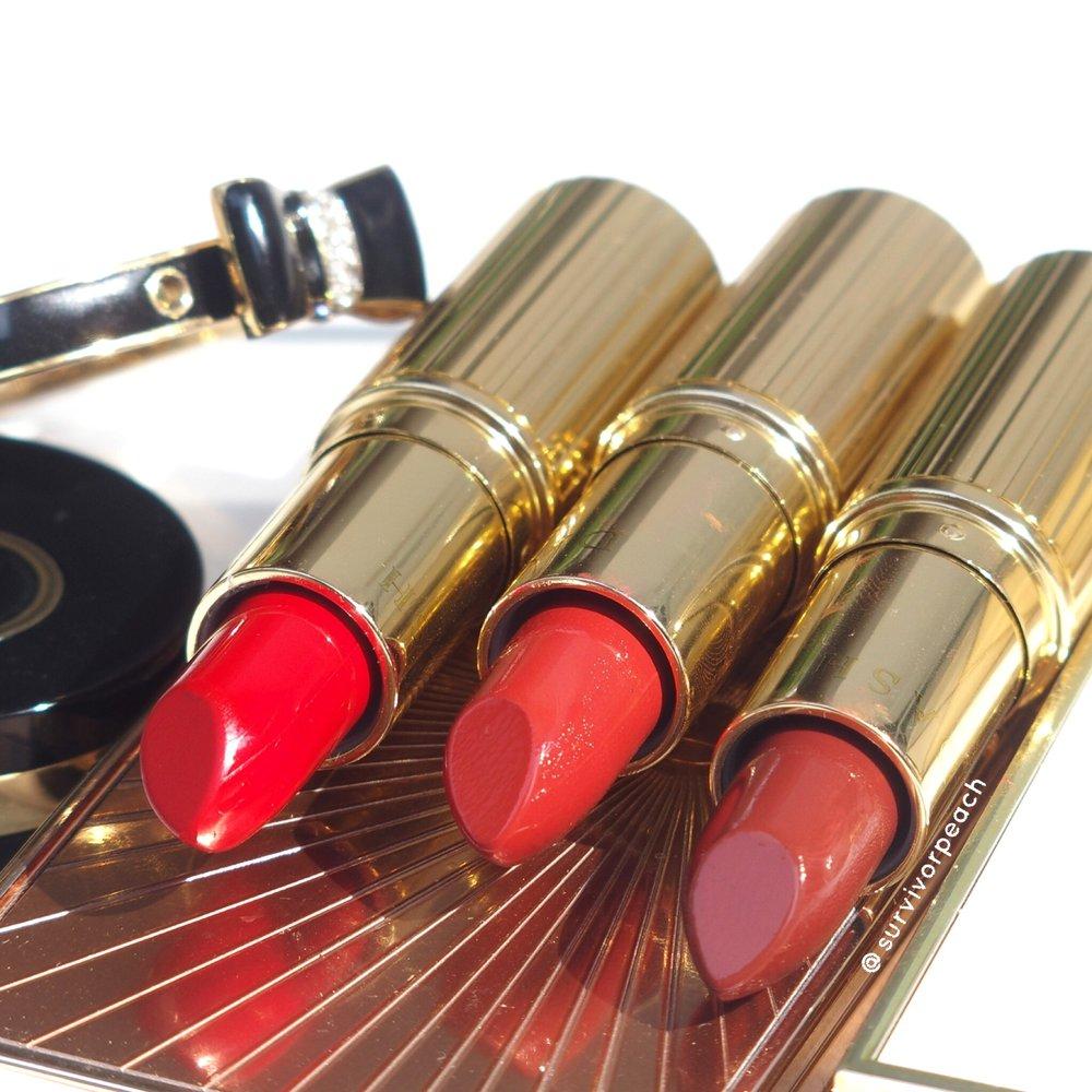 Dash Cosmetics Vintage Moisture Lipstick - Dark Secret, Ginger Brick, Victoria Red