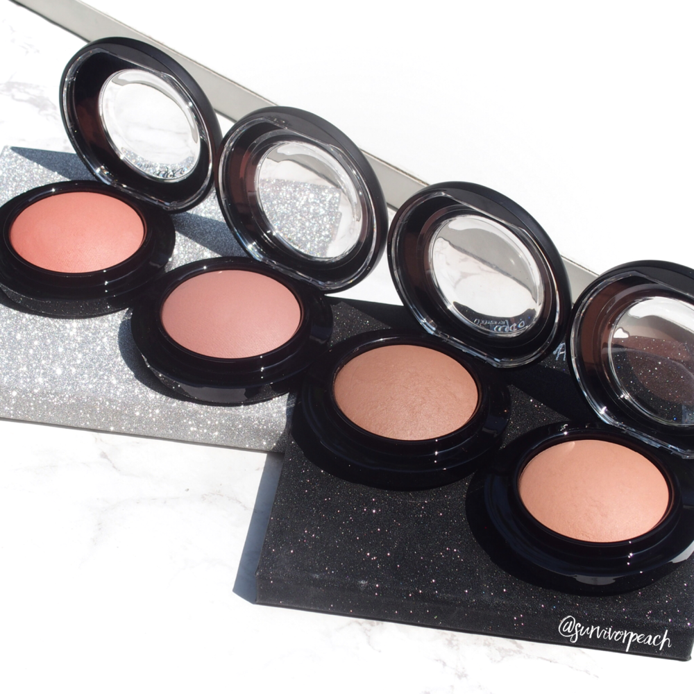Mac Mineralize blush Naturally Flawless, Sweet Enough, Humour Me, Like Me love Me