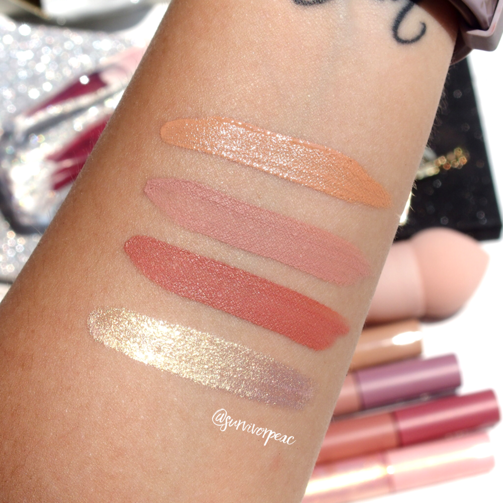 Swatches of the Primark Matta&Gloss collection